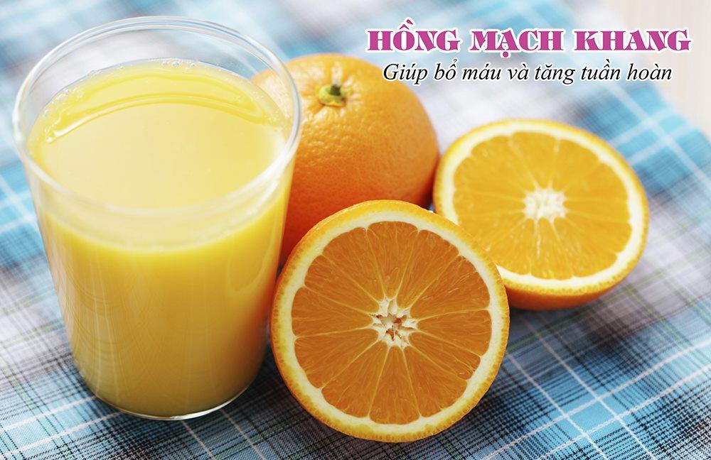 Uống sắt cùng nước cam sẽ giúp hấp thu tốt hơn